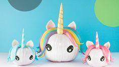 Calabazas decoradas de unicornios diy para halloween con tutorial paso a paso de @Confettidea