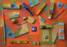 Reconstrucción de la Infancia, Ensamble sobre Canvas y Acrílico, Medidas: 33x24 Centímetros, Año: 2015, Autor: Gianni Fedele Mazza.