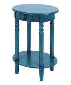 Blue Oval Accent Table #zulily #zulilyfinds