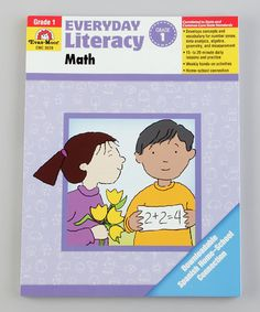 Take a look at this Everyday Literacy Math Grade 1 Paperback by Evan-Moor Educational Publishers on #zulily today!
