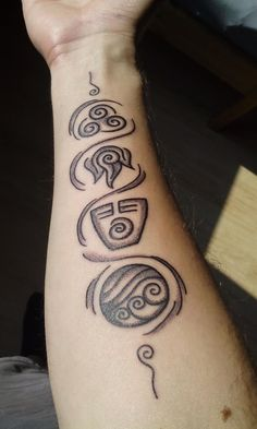 Another proud owner of an avatar tattoo : TheLastAirbender<br> Tattoo Sketches, Tattoo Drawings, Body Art Tattoos, Sleeve Tattoos, Cool Tattoos, Tatoos, Tattoo Geek, Avatar Tattoo, Tattoo Fonts