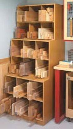 Woodworking Shop Cutoff Storage Bins - Regardless of the size of your shop, wood storage and scrap wood storage is always a challenge. Here nine DIY wood storage orgnaziners for your workshop. Lumber Storage Rack, Lumber Rack, Wood Storage, Storage Bins, Diy Storage, Storage Ideas, Garage Storage, Storage Solutions, Garage Organization