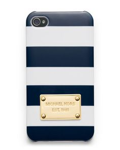 Michael Kors Striped iPhone Cover.