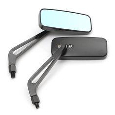 #BangGood - #Aluminum 8mm 10mm Aluminum Motorcycle Rectangle Rearview Side Mirror Universal - AdoreWe.com