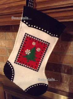 Handmade Christmas Tree Stocking by BEAUXTAILS on Etsy, $45.00