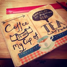 Wreck this journal page idea I hate coffee but love tea so this will be happening(1)