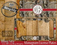 Browning Realtree Camo Monogram License Plate Metal Wall Sign for Auto Car Truck Tags Personalized Custom  Lilly Pulitzer Inspired Monogram License