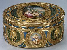 Jean-Joseph Barrière, Snuffbox 1769-1770 Or, émail/ Gold, enamel