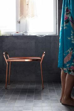 Maze, Anyone pall Extra Seating, Tan Leather, Bar Stools, Copper, Living Room, Bedroom, Interior, Modern, Inspiration