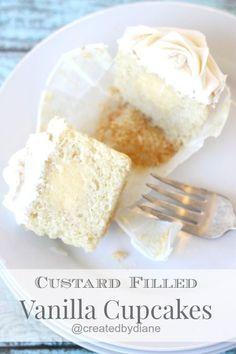 Custard Filled Vanilla Cupcakes