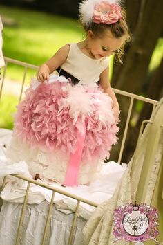 Mademoiselle ~ The Haute Couture Feather Apron... Design Your Own! - $88.00 :: Love Baby J Boutique - Welcome to Love Baby J Couture - Boutique Clothing For Girls