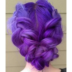"""Purple Double Dutch Braid Hair by: @gingersnipssalon Mermaid: ☂@beckachu92☂ #Mermaidians """