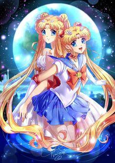 Sailor moon and Serenity | Kaminary [pixiv]