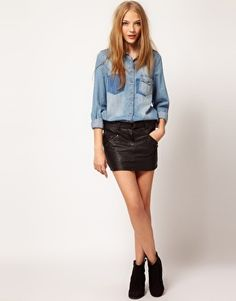 1000 images about jupe en cuir que mettre avec sa jupe. Black Bedroom Furniture Sets. Home Design Ideas
