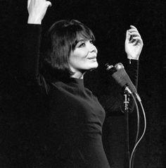 Juliette Greco en Russie, en 1967