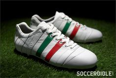 These boots...  Pantofola D'Oro Sirio Italian Flag Football Boots - White/Green/Red - Football Boots