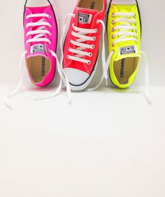 Sometimes we just need ridiculously bright shoes. #converse #neon #schuh