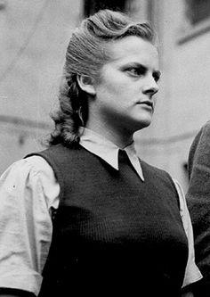 """Nazi Women: 10 Monstrous Female Nazi War Criminals - EnkiVillage. Irma Grese-""""The Hyena of Auschwitz."""""""