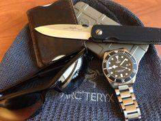 Tudor••Pelagos + Emerson••Mini A100 + Saddleback••Leather Wallet + Oakley••Sunglasses + iPhone 5 w/Magpul Case + Wool••Beanie
