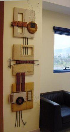 Cheap Wall Art Ideas for Home Decor Diy Wall Art, Wood Wall Art, Wall Decor, Wall Sculptures, Sculpture Art, Ceramic Wall Art, Mural Art, Clay Art, Textile Art
