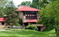 Taliesin House near Spring Green - La residencia de verano de Frank Lloyd Wright en Wisconsin