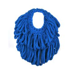 Braided Circle Scarf Blue, $85, now featured on Fab.