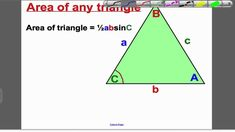 Area of Triangles 1 (GCSE Higher Maths)- Tutorial 19 Gcse Math, Maths, Math Tutorials, Aqa, Triangles, Student, Letters, Education, Letter