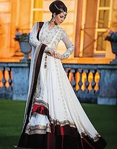 Off-white Bridal Anarkali Dress from Khushboo's by Chand 2014