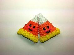 ▶ 3-D Happy Candy Corn Tutorial (Rainbow Loom) - YouTube