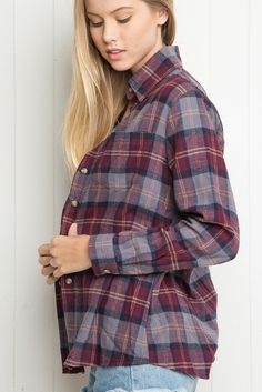 Brandy ♥ Melville | Wylie Flannel - Tops - Clothing