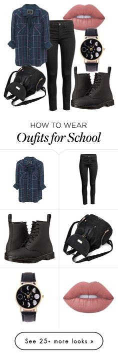 """Untitled #365"" by vickyagh on Polyvore featuring Lime Crime, Rails and Dr. Martens"