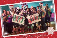 Holiday 2014, roller derby, roller radicals, Christmas derby style, derby girl