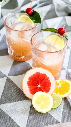 Classic whiskey sour using triple the variety of citrus fruits to create a delicious blend