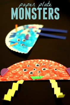 Toddler Approved!: Paper Plate Monster Craft