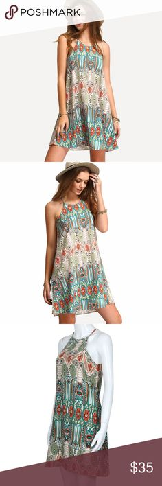 Casual Loose Dress ✅ Type: Print ✅ Material: Polyester ✅ Style: Fashion, Casual ✅ Sleeve Length: Sleeveless ✅ Dress Length: Above Knee Dresses Mini