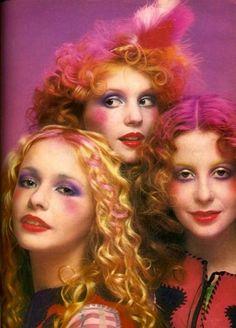 April 1971, glam rock makeup