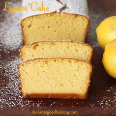 Oh how I love Lemon Cake, Lemon Pie, Lemon Bars, LEMON LEMON LEMON!!!  lemon cake  diabetic and gluten free