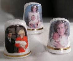 550 × 459 - Set of 3 Fenton Bone China Princess Diana Thimbles