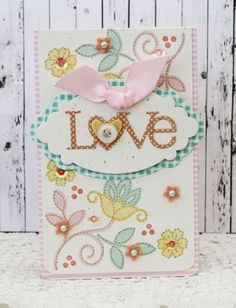 Love Card by Melissa Phillips for Papertrey Ink (December 2013)