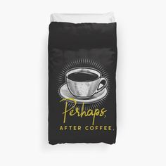 'Coffee Lovers T Shirts' Duvet Cover by Duvet Cover Design, College Dorm Bedding, Free Stickers, Duvet Insert, Duvet Covers, Art Prints, Printed, Awesome, Shop