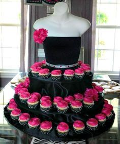The Couture Cupcake Stand dress for birthdays, partys, bridal showers, quinceanera and special events Couture cupcake stand great for a jewelry show! Draw them in with cupcakes, no one else will have and close the deal on a sale of your Cupcake Couture, Beautiful Cakes, Amazing Cakes, Simply Beautiful, Birthday Parties, Birthday Cake, Birthday Celebration, 50th Birthday, Birthday Ideas