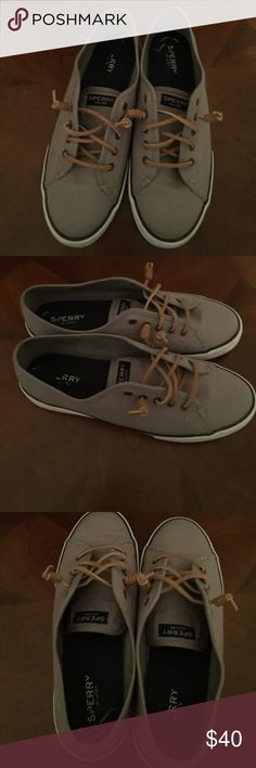 Sperry Grey Top-Sider  Sneakers In great condition nice causal shoe Sperry Shoes Sneakers