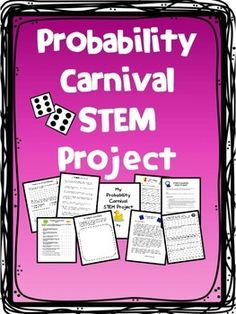 This activity includes everything you need to set up a probability carnival for your school or class. Projects can be completed at home or at school. When completed, invite other classrooms to your carnival to play the games your students have made. Games For Kids Classroom, Building Games For Kids, Probability Games, Stem Projects, Class Projects, Cooperative Learning Groups, Letter To Students, 7th Grade Math, Math Class