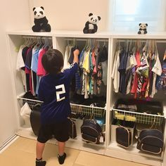 Interior example of school bag storage / ceria / children's clothes storage / 3 brother lockers / ikea stuva … – Bag World House Furniture Design, Kids Furniture, Interior Design Living Room, Ikea Kids Room, Cool Kids Rooms, School Bag Storage, Ikea Stuva, Diy Rack, Home Panel