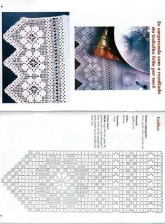 Filet crochet lace edging with diagram - flower with points Filet Crochet, Crochet Lace Edging, Crochet Borders, Crochet Stitches Patterns, Doily Patterns, Crochet Chart, Thread Crochet, Crochet Trim, Crochet Designs