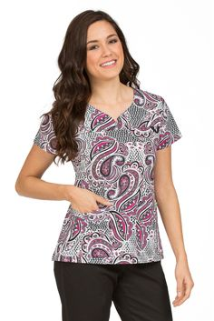 70b69ab6309 Med Couture MC2 Lexi Print Top in