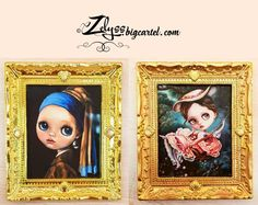 "Miniature Framed Fine Art Prints : ""Swing"" and ""Pearl Earring"" 