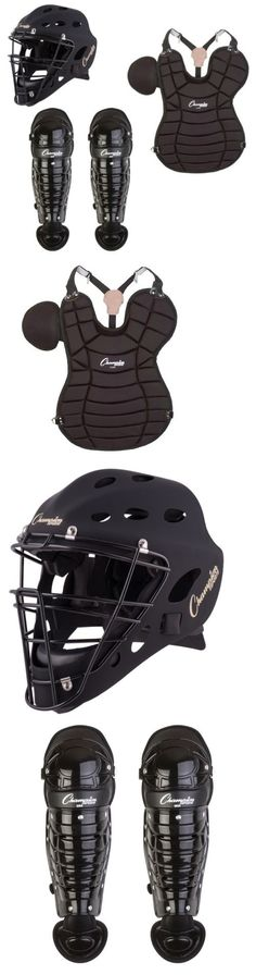 Other Baseball Clothing and Accs 159062: Champion Adult 4-Piece Catchers Package Set Helmet, Chest Protector, Shin Guards -> BUY IT NOW ONLY: $134.99 on eBay!