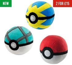 Buy Pokemon Poke Ball Plush at Argos.co.uk - Your Online Shop for 2 for 15 pounds on Toys, Toys.