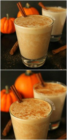This pumpkin chai latte is lightly sweetened with maple syrup and is full of warm, cozy fall spices! Naturally #glutenfree, #vegan and #dairyfree.